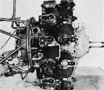 Photograph of Japanese Ha-102 aircraft engine