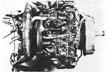 Photograph of Japanese Ha-115 aircraft engine