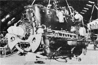 Photograph of Japanese Ha-40 aircraft engine