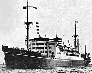 Photograph of Heian Maru prior to militarization