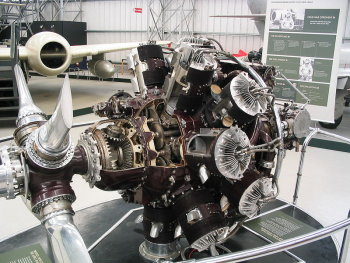 Photograph of Hercules aircraft engine