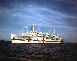Photograph of hospital ship