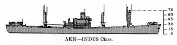 Schematic diagram of Indus class net cargo ship