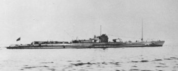 Photograph of Japanese submarine I-6