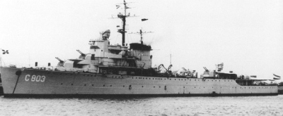 Photograph of antiaircraft cruiser Jacob van Heemskerck