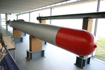 Photograph of Japanese Type 95 submarine torpedo