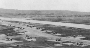 Photograph of Kadena after Allied capture