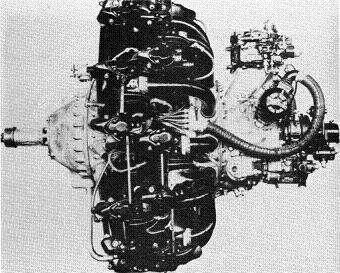 Photograph of Japanese Kasei 25 aircraft engine