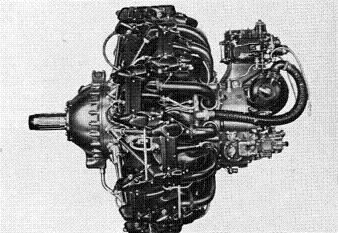 Photograph of Japanese Kinsei 51 aircraft engine