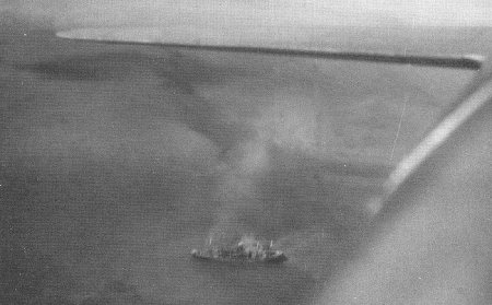 Photograph of Kongo Maru sinking