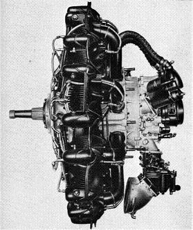 Photograph of Kotobuki 1 KAI 1 radial               engine