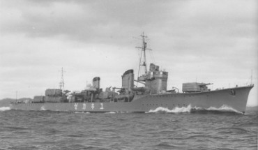 Photograph                   of IJN Yukikaze, a Kagero-class destroyer