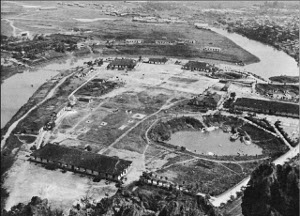 Aerial photograph of infantry training center, Kweilin