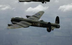Photograph of Lancaster in flight