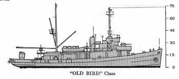Schematic diagram of Lapwing class               minesweeper
