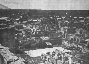 Photograph of Lipa after bombardment