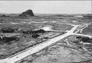 Photograph of Liuchow airfield in the final stages of the war