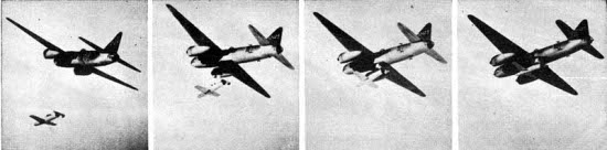 Photographs of Okha being launched from aircraft