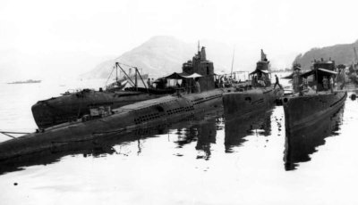 Photographs of submarines at Maizuru