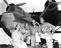 Crew of PBY who         torpedoed a tanker on 3 June 1942