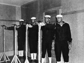Photograph of African-American shore patrolmen in training