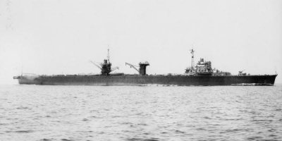 Photograph of Japanese seaplane carrier Mizuho