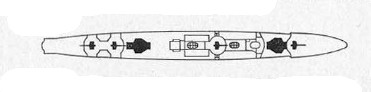 Schematic of IJN Mutsuki