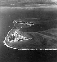 Aerial photograph of Midway