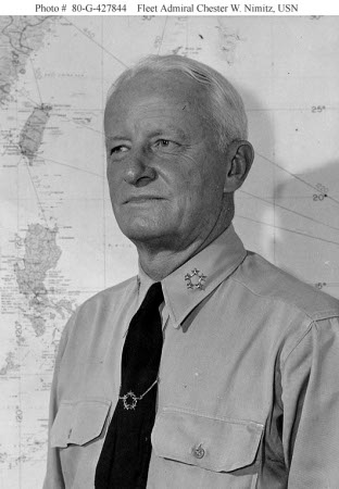 Phogograph of Fleet Admiral Chester Nimitz