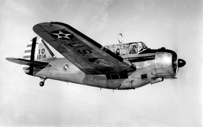 Photograph of O-47 observation aircraft