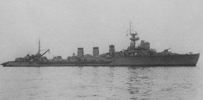 Photograph of Kitakami, an Oi-class torpedo cruiser