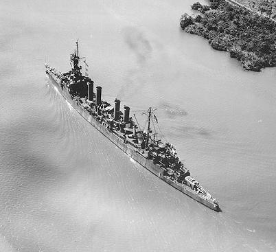 Photograph                   of Omaha-class cruiser