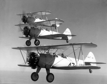 Photograph of PT-17 trainers