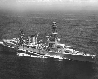 Photograph of Pensacola-class heavy cruiser