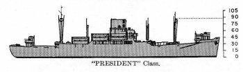 Schematic diagram of President class transport