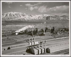 Photograph of Geneva Steel, Provo, Utah, during the war         years