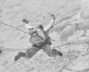 Photograph of Japanese paratrooper making a jump