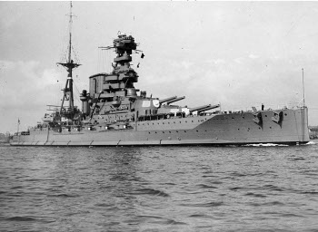Photograph of HMS Barham, a Queen Elizabeth class battleships