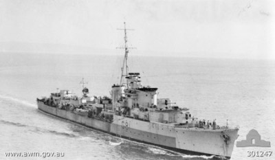 Photograph of Quilliam-class destroyer