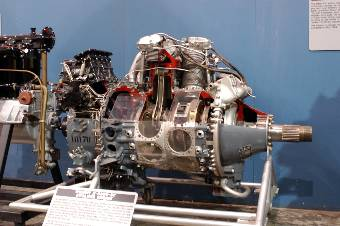 Photograph of R-3350 Wright Cyclone aircraft engine