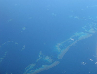 Aerial photograph of Great Barrier Reef