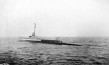 Photograph of a River-class submarine
