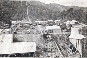 Photograph of Mt. Read mine ca. 1900