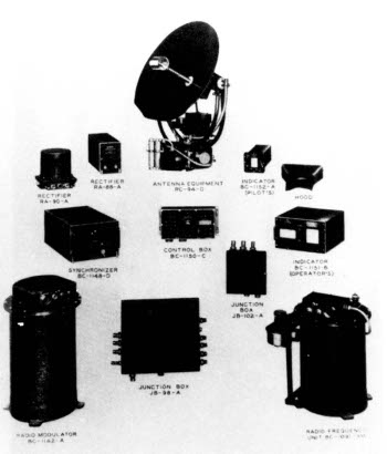Photograph of SCR-520 radar components