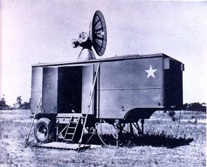 Photograph of deployed SCR-584 radar