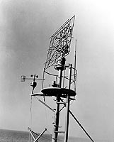 Photograph of SC search radar antenna
