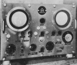 Photograph of SF radar console