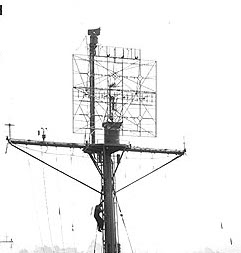 Photograph of SK naval radar