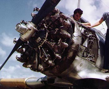 Photograph of R-1340 aircraft engine