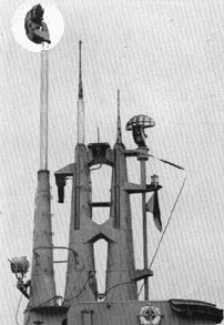Photograph of SD air warning radar antenna